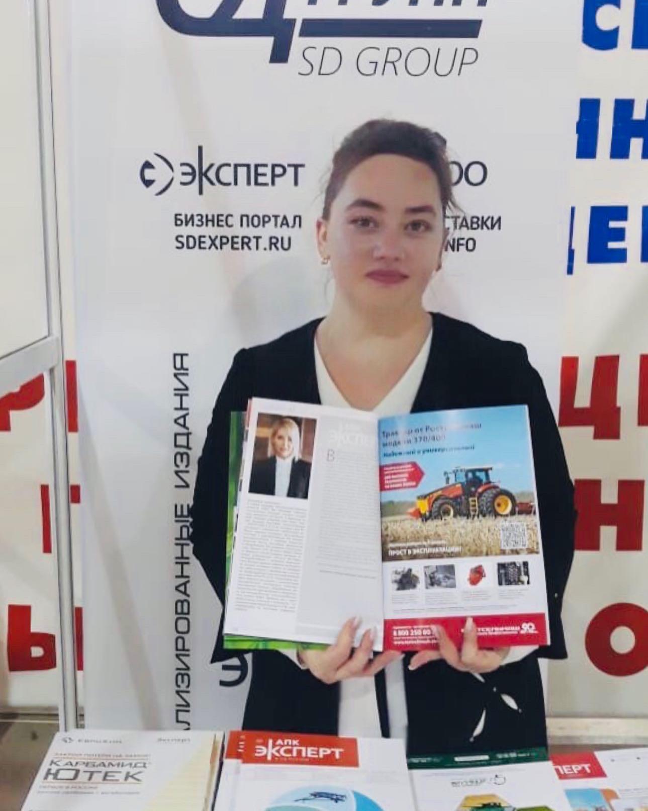 На прошлой неделе в Воронеже состоялась выставка «ВоронежАгро» и мы там тоже были. На выставке работала наш менеджер Елена Коцупатрий