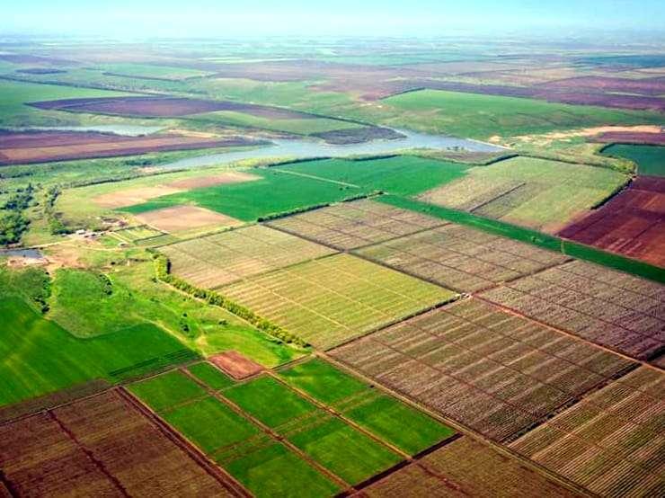 Планировка поля для орошаемого землепользования