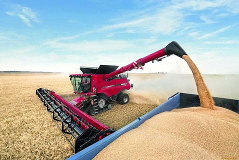 Транспортировка зерновых от поля до места хранения